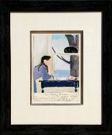 Spirit of Youth Mixed Media 23x19 Works on Paper (not prints) by Will Barnet - 2
