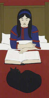 Child Reading Red 1970 Limited Edition Print by Will Barnet