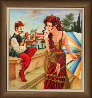 Seduzione Di Mandolino 2015 47x43 Original Painting by Edgar Barrios - 1