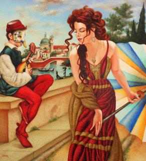 Seduzione Di Mandolino 2015 47x43 Original Painting - Edgar Barrios