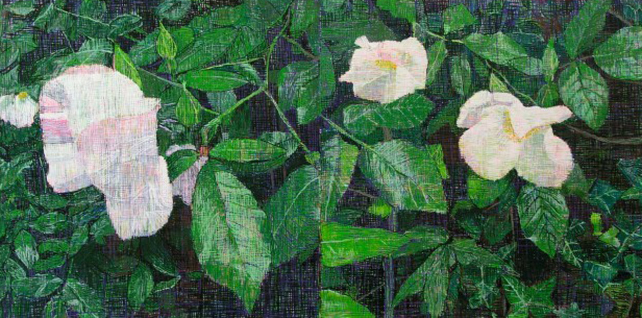 White Roses PP 2013 Super Huge Limited Edition Print by Jennifer Bartlett