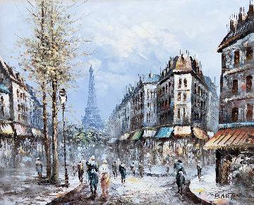 Paris 40x65 Huge Original Painting - Edward Barton