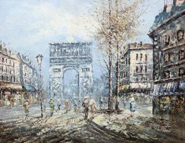 Paris 40x70 Huge!  Original Painting - Edward Barton