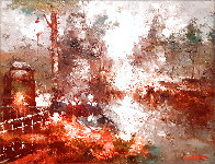 Untitled Painting 30x25 Original Painting by Edward Barton - 0