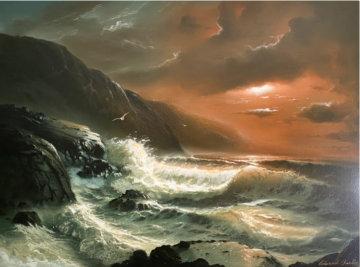 Untitled Original Painting 43x55 Huge Original Painting - Edward Barton
