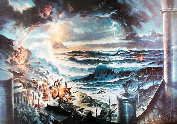 Sinking of Atlantis 1976 Limited Edition Print - Edward Barton