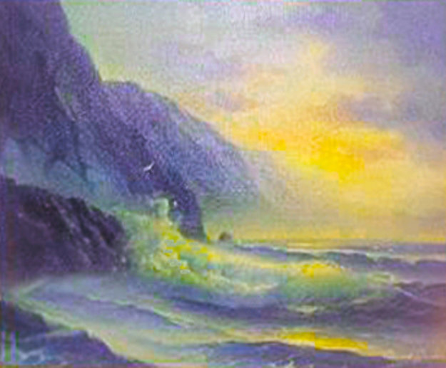 Seascape 28x34 Original Painting by Edward Barton