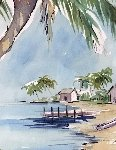 Original Watercolor 15x20 Florida Watercolor - Steve Barton