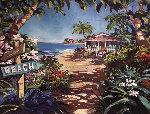 Beach 30x40 Original Painting - Steve Barton