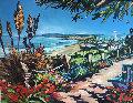 Del Mar Coast 2003 46x57 San Diego Original Painting - Steve Barton