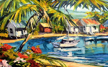 Beach Villas 2011 Embellished Limited Edition Print by Steve Barton