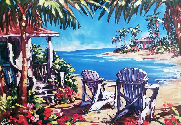 Paradise Cove AP 2001 Embellished Limited Edition Print by Steve Barton