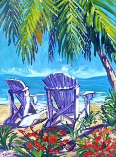 Untitled Seascape 2000 50x40 Original Painting by Steve Barton