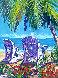 Untitled Seascape 2000 50x40 Original Painting by Steve Barton - 0