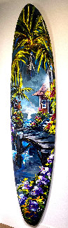 Untitled Hand Painted Surfboard 2016 92 in Original Painting - Steve Barton