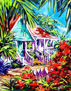 Caribbean Cottages 53x43 Huge  Original Painting - Steve Barton