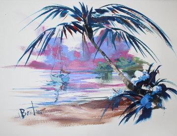 Untitled Watercolor Seascape 23x30 Watercolor - Steve Barton