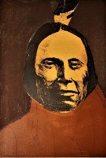Red Cloud - Sioux 1974 41x30 Super Huge  Limited Edition Print - Leonard Baskin