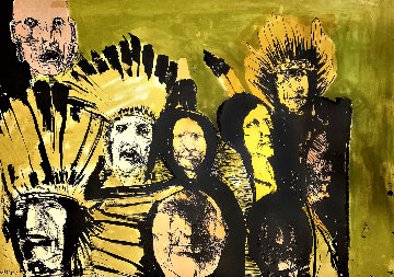 Indian Faces 1974 Limited Edition Print by Leonard Baskin