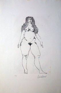 Standing Nude 1992 Limited Edition Print by Leonard Baskin