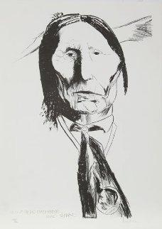 Wolf Robe - Cheyenne 1972 Limited Edition Print by Leonard Baskin