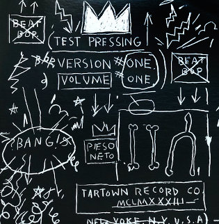 Beat Bop Vinyl Record 1983 Limited Edition Print by Jean Michel Basquiat