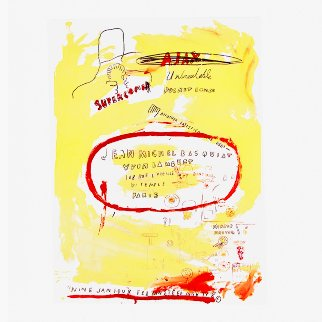 Supercomb 1988  by Jean Michel Basquiat