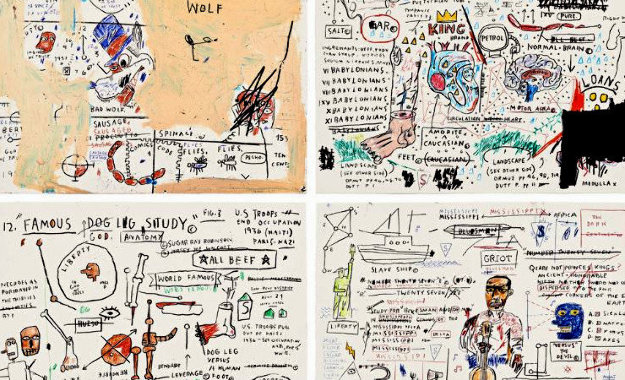 Porfolio of 4 Prints  2019 by Jean Michel Basquiat