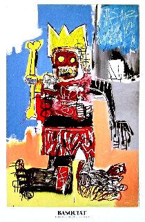 Beyerler Museum Crown Poster 1982  Limited Edition Print - Jean Michel Basquiat