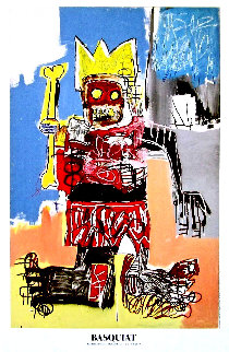 Beyerler Museum Crown Poster 1982  Limited Edition Print by Jean Michel Basquiat