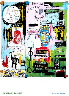 Shafrazi Gallery In Italian Poster 2004  Limited Edition Print by Jean Michel Basquiat