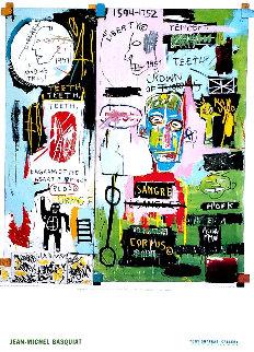 Shafrazi Gallery In Italian Poster 2004  Limited Edition Print - Jean Michel Basquiat