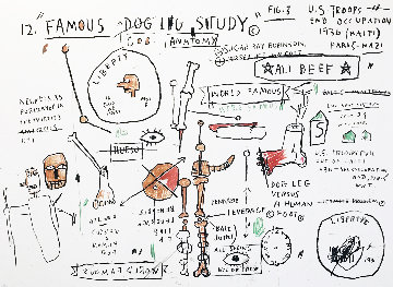 Dog Leg Study 1982 Limited Edition Print - Jean Michel Basquiat