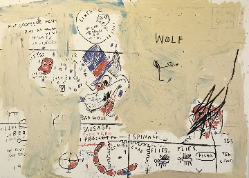 Wolf Sausage 1982 Limited Edition Print by Jean Michel Basquiat