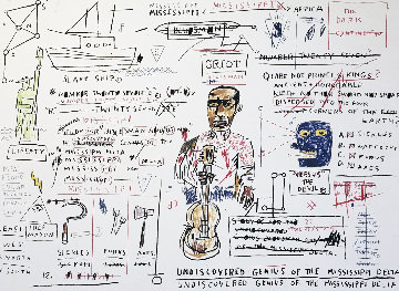 Undiscovered Genius 1982 Limited Edition Print - Jean Michel Basquiat