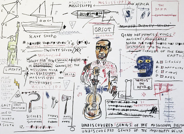 Undiscovered Genius 1982 Limited Edition Print by Jean Michel Basquiat