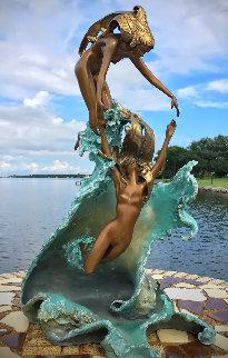 Dancing With Waves Bronze Sculpture 1987 23 in Sculpture - Angelo Basso