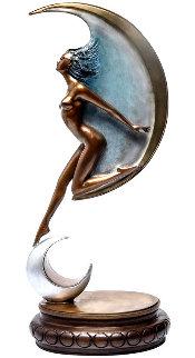 Luna Bronze Sculpture 1988 33 in Sculpture - Angelo Basso