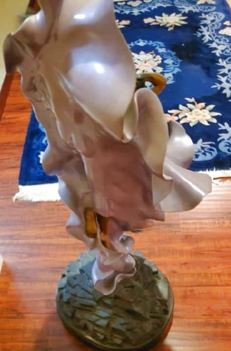 Paola And Francesca Bronze Sculpture 1989 42 in Sculpture by Angelo Basso