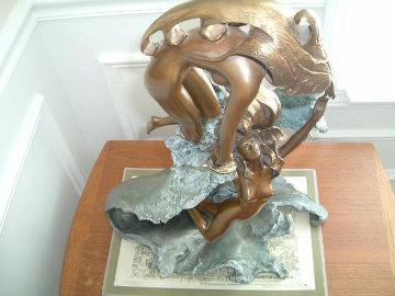 Dancing With Waves Bronze Sculpture Sculpture - Angelo Basso