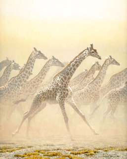 Galloping Herd - Giraffes 1981 Limited Edition Print - Robert Bateman