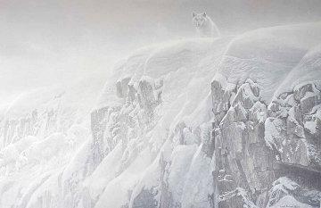 Artic Cliff - White Wolves 1991 Limited Edition Print - Robert Bateman