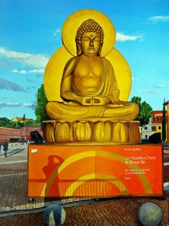 In Arte, Buddha (Omaggio a Shinjo Ito) 2009 39x29 Original Painting - Matthew Bates
