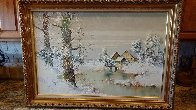 Snowy Homestead 30x42 Huge Original Painting by Willi Bauer - 1