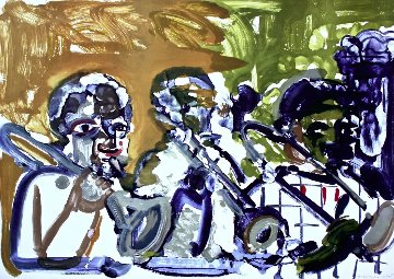 Brass Section (Jamming At Minton's) 1979 Limited Edition Print by Romare Bearden