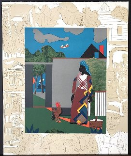 Pepper Jelly Lady  PP 1980 Limited Edition Print by Romare Bearden