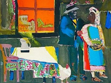 Autumn of the Rooster PP 1983 Limited Edition Print by Romare Bearden