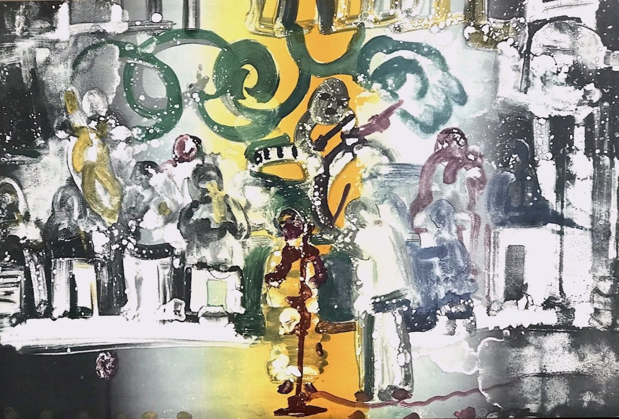 Introduction For a Blues Queen 1979 Limited Edition Print by Romare Bearden