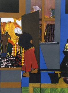 Open Door 1979 Limited Edition Print - Romare Bearden