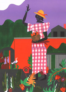 Girl in the Garden 1979 Limited Edition Print - Romare Bearden